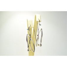 Золотые серьги с бриллиантами 1069123
