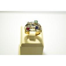Золотое кольцо с бриллиантами 1094412