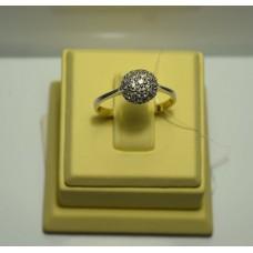 Золотое кольцо с бриллиантами 13-5