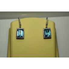 Золотые серьги с бриллиантами 154(1700)