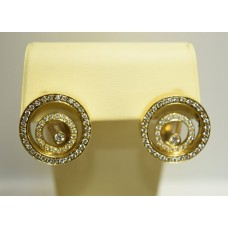Золотые серьги с бриллиантами 164(2800)