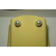 Золотые серьги с бриллиантами 010(1200)