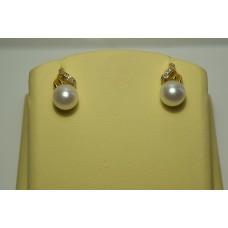 Золотые серьги с бриллиантами 50-5