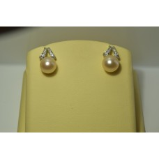 Золотые серьги с бриллиантами 57-5