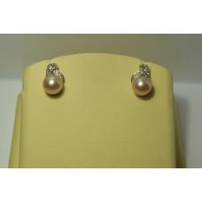 Золотые серьги с бриллиантами 31-5