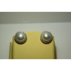 Золотые серьги с бриллиантами 004(2000)