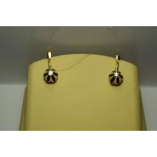 Золотые серьги с бриллиантами 53-5