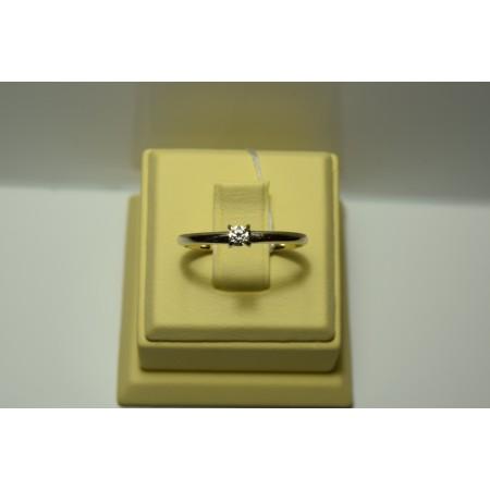 Золотое кольцо с бриллиантом 066(280)
