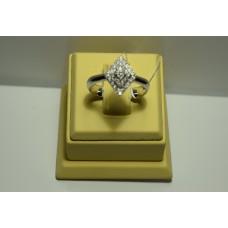 Золотое кольцо с бриллиантами 025(900)
