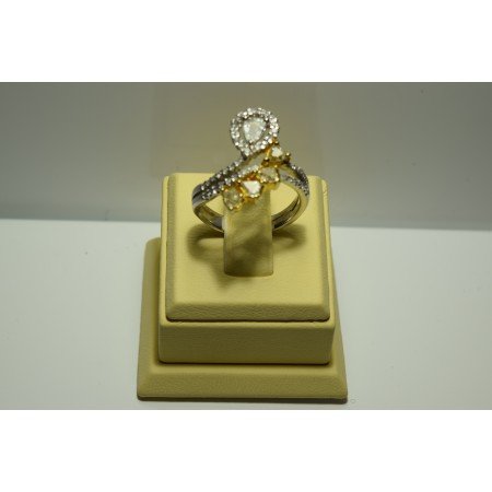 Золотое кольцо с бриллиантами 071(1500)