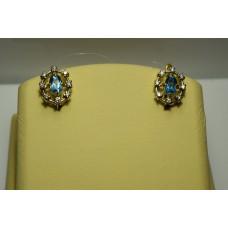 Золотые серьги с бриллиантами 52-5