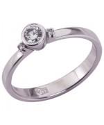 Золотое кольцо с бриллиантами 51714