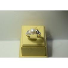 Золотое кольцо с бриллиантами 49-5