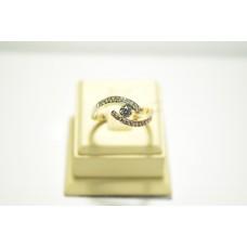Золотое кольцо с бриллиантами 51556