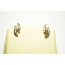 Золотые серьги с бриллиантами 58556