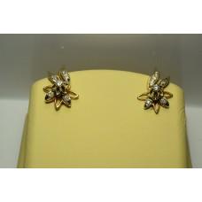 Золотые серьги с бриллиантами 64-5