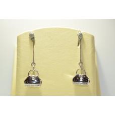 Золотые серьги с бриллиантами ROSATO-30
