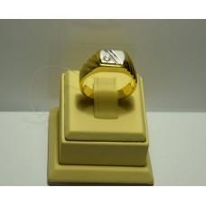Золотое кольцо с бриллиантом 70-5