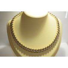 Золотое колье с бриллиантами 7500