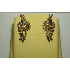 Золотые серьги с бриллиантами 78-5