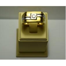 Золотое кольцо с бриллиантом 80-5