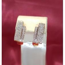 Золотые серьги E0308